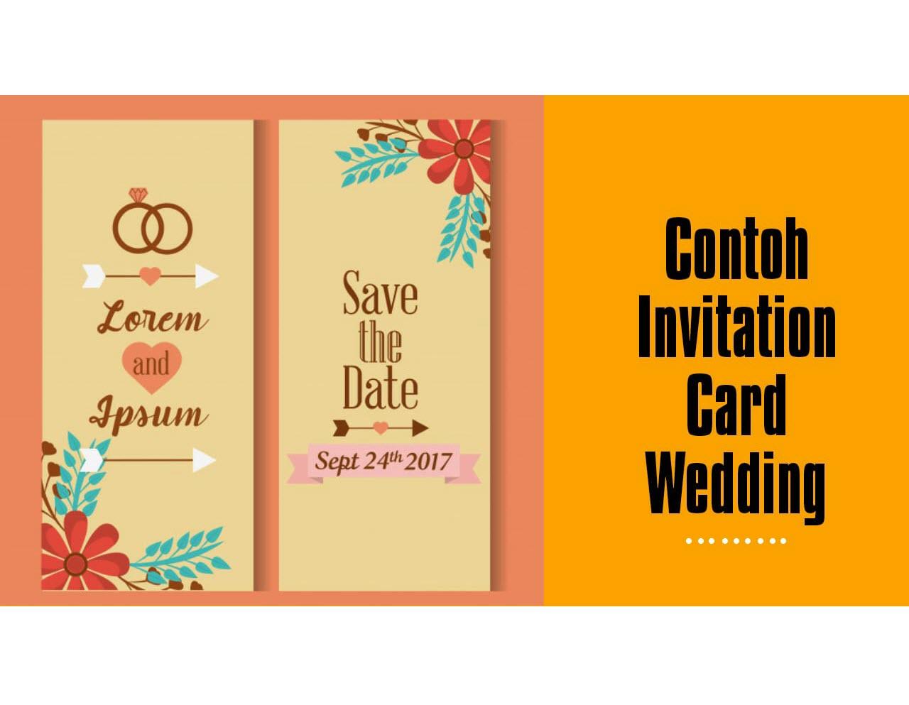 Contoh Wedding Invitation Card