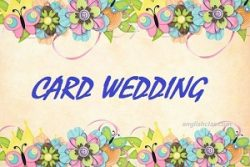 Contoh Invitation Card Wedding English Class