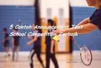 5 Contoh Teks Announcement School Competition Terbaik