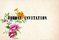 Contoh Formal Invitation