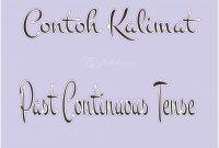 50 Contoh Kalimat Past Continuous Tense